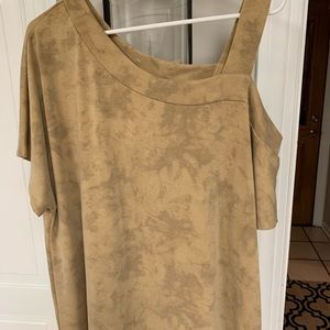 Ladies one shoulder top NEW sz L